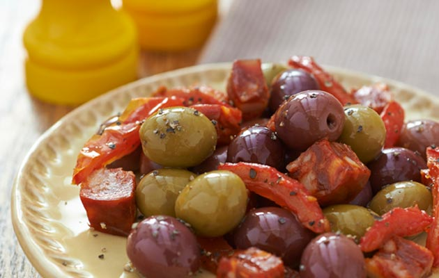 Black-and-green-olives-sun-dried-tomato-and-chorizo