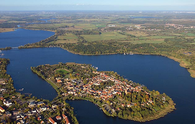 Insel-Luftbild