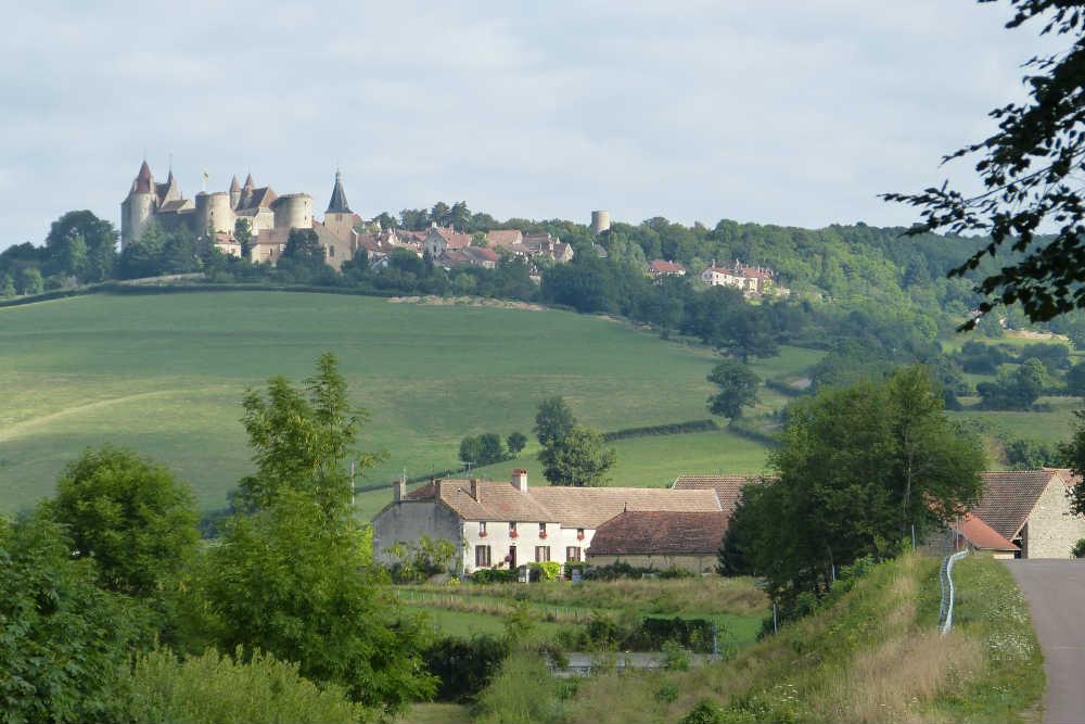 Burgundy hilltop town