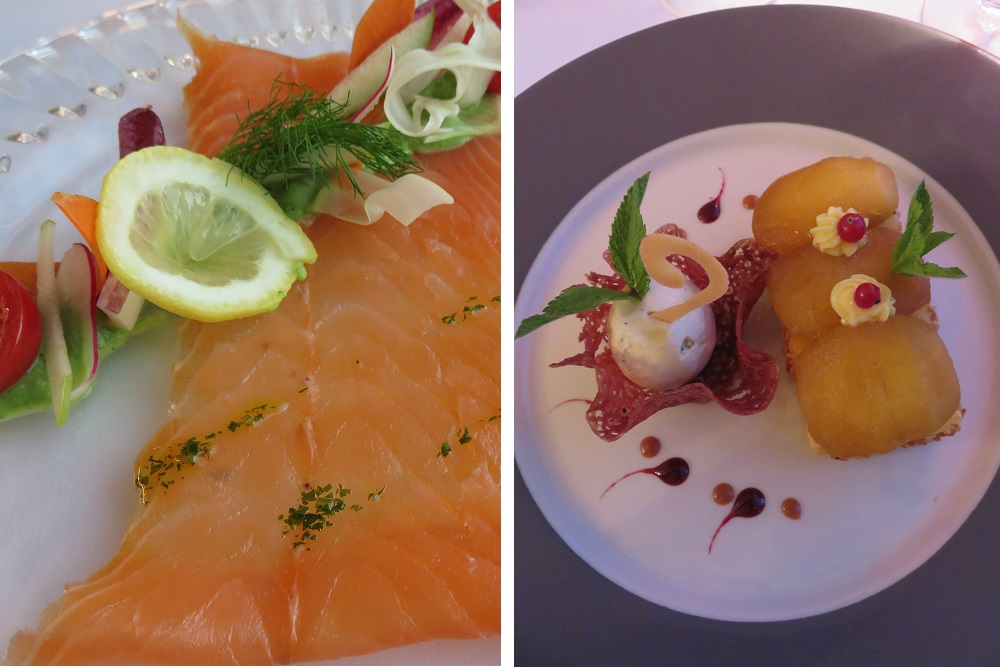 Clery Le Berthier home smoked salmon and tarte