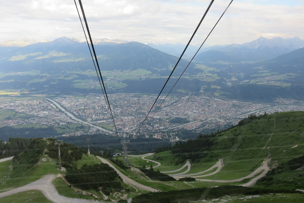 Tirol Biking down to Innsbruck b