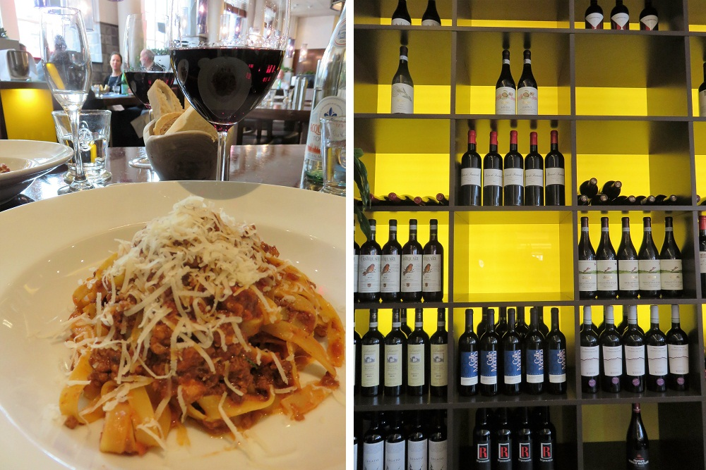 Diciannove ragout and wine