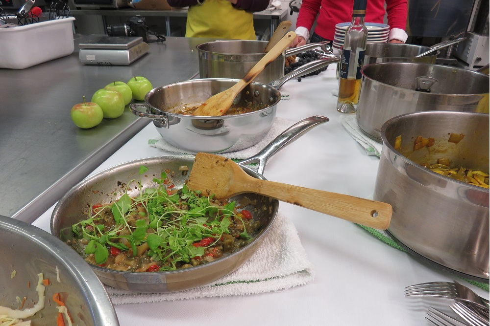 Cookery lesson some of the dishes