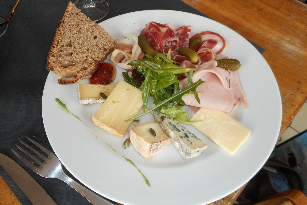 Cheese platter at La Chal restaurant in Saint Jean dArves