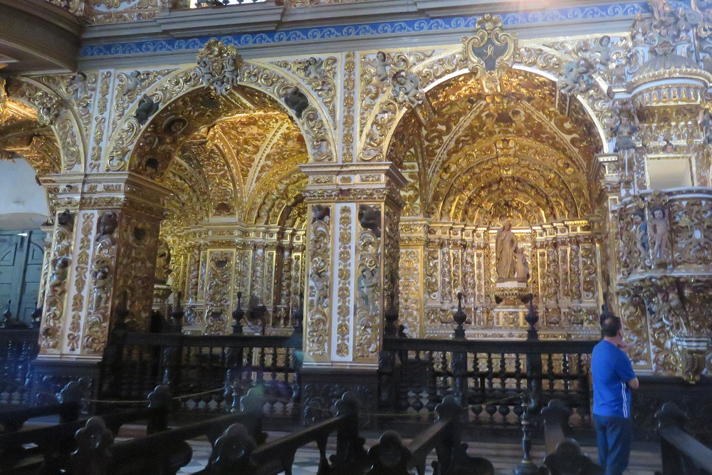 Salvador 3 Glittering Church of Sao Francisco internal shot