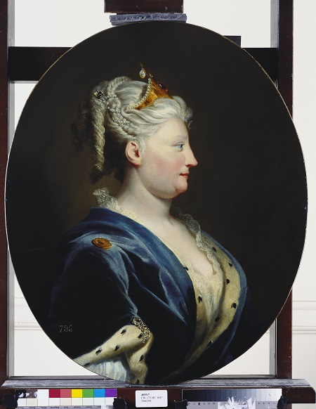 Queen Caroline of Ansbach Joseph Highmore c.1735 Royal Collection Trust Her Majesty Queen Elizabeth II 2017