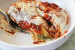 Cannelloni stuffed with Spinach and Light Cream Cheese Recipe