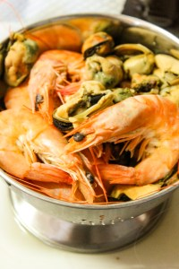 Fresh Shrimp and Mussels
