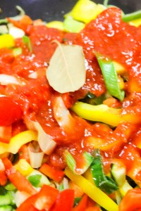Chopped vegetables with chopped Tomatoes