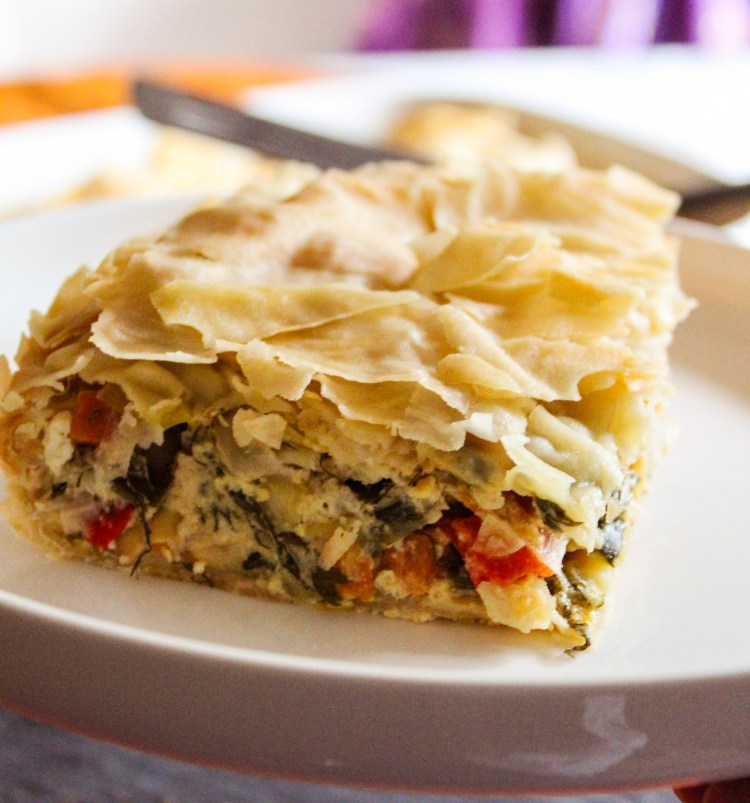 Leek, Feta Cheese, Vegetables Pastry Dough