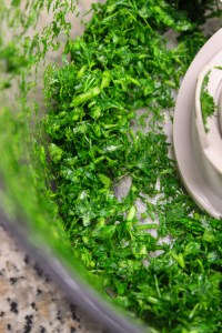 parsley and dille finely chopped