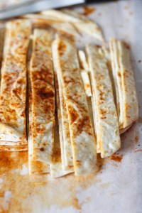 sliced tortillas