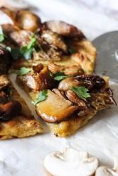 roasted mushrooms, pita bread, parsley