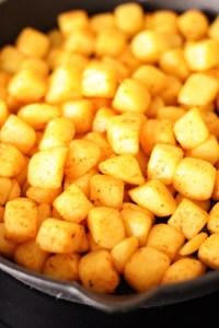 cubed fresh potatoes