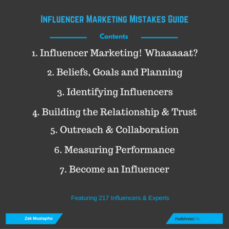 Influencer Marketing Guide Contents