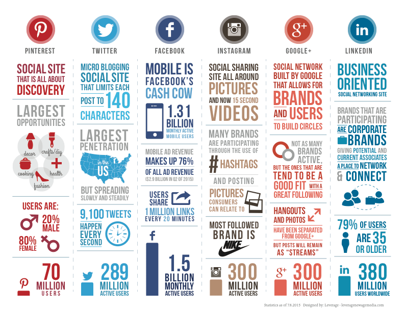 social media demographics infographic