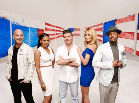 AMERICA'S GOT TALENT -- Season: 11 -- Pictured: (l-r) Howie Mandel, Mel B, Simon Cowell, Heidi Klum, Nick Cannon -- (Photo by: Art Streiber/NBC)
