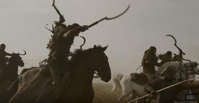 GOT trailer Dothraki Lannisters