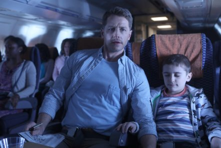 "MANIFEST -- ""Pilot"" -- Pictured: (l-r) Josh Dallas as Ben Stone, Jack Messina as Cal Stone -- (Photo by: Craig Blankenhorn/NBC/Warner Brothers)"