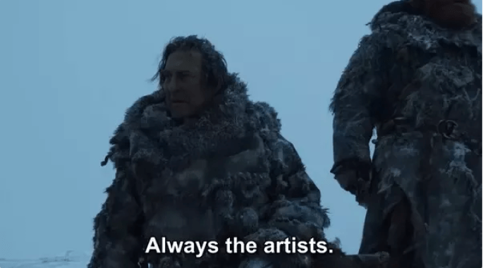 Mance always artists game of thrones