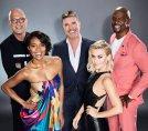 AMERICA'S GOT TALENT -- Season: 14 -- Pictured: (l-r) Howie Mandel, Gabrielle Union, Simon Cowell, Julianne Hough, and Terry Crews -- (Photo by: Art Streiber/NBC)
