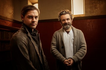 PRODIGAL SON: L-R: Tom Payne and Michael Sheen in PRODIGAL SON, premiering this fall on FOX. © 2019 FOX MEDIA LLC. Cr: David Giesbrecht / FOX.