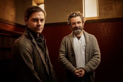 PRODIGAL SON: L-R: Tom Payne and Michael Sheen in PRODIGAL SON, premiering this fall on FOX. © 2019 FOX MEDIA LLC. Cr: David Giesbrecht / FOX.