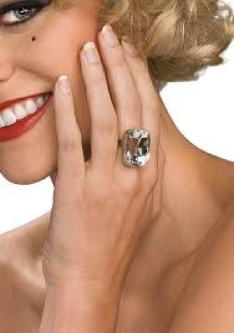 costume jewlery ring diamond fake