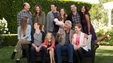 LIFE IN PIECES is CBS's new single camera comedy about one big happy family and their sometimes awkward, often hilarious and ultimately beautiful milestone moments as told by its various members. Pictured L-R, Top Row: Dan Bakkedahl as Tim, Betsy Brandt as Heather, Colin Hanks as Greg, Zoe Lister Jones as Jen, Thomas Sadoski as Matt and Angelique Cabral as Colleen; Pictured L-R, Bottom Row: Holly Barrett as Samantha, Niall Cunningham as Tyler, Giselle Eisenberg as Sophia, James Brolin as John and Diane Wiest as Joan Photo: Cliff Lipson/CBS ©2015 CBS Broadcasting, Inc. All Rights Reserved
