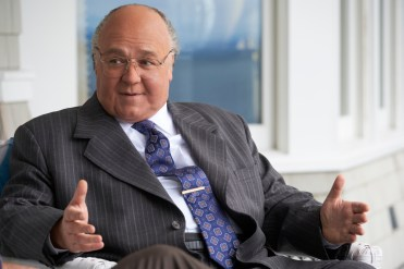 "Russell Crowe as Roger Ailes in THE LOUDEST VOICE, ""1996"". Photo Credit: JoJo Whilden/SHOWTIME"