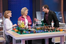LEGO MASTERS: L-R: Contestants Jessie and Kara and host Will Arnett in LEGO MASTERS, premiering Wednesday, Feb. 5 (9:00-10:00 PM ET/PT) on FOX. CR: Ray Mickshaw/FOX