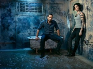BLINDSPOT -- Season: 2 -- Pictured: (l-r) Sullivan Stapleton as Kurt Weller, Jaimie Alexander as Jane Doe -- (Photo by: Matthias Clamer/NBC)