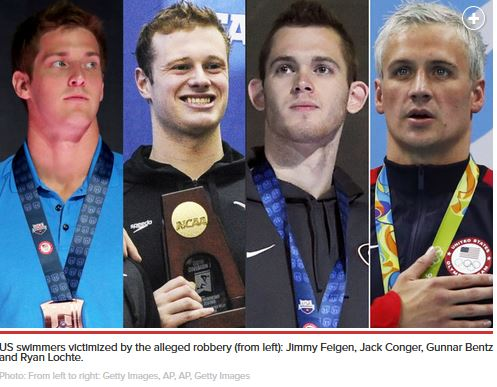 lochte and his crew
