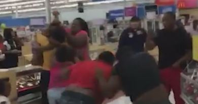 Two Families Start Brawling At A Walmart Over Who Was First In Line.