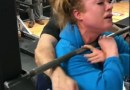 Trainer Won't Let A Female Weight Lifter Give Up During Her Work Out