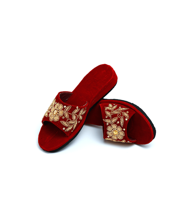 Nepali Shoes Red Open