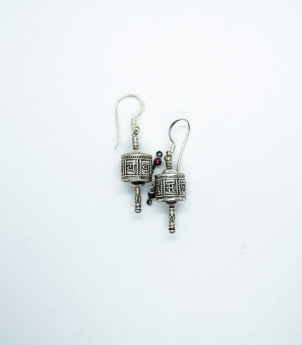 Authentic Prayer Wheel Earrings