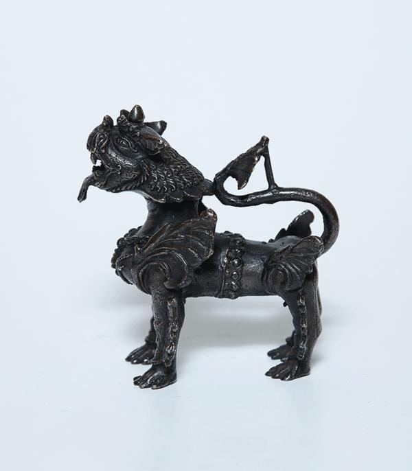 Nepali Guardian Lion Statue