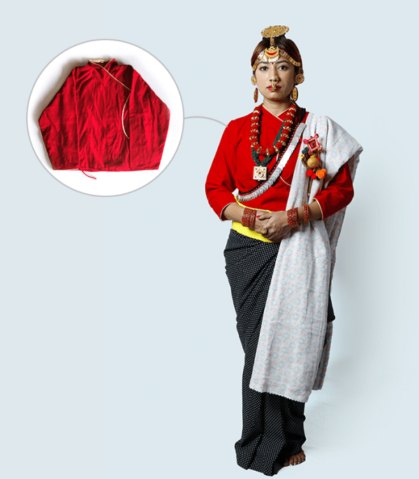 Simple Cholo - a traditional Nepali women blouse