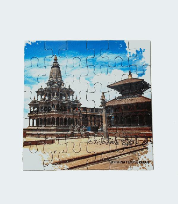 Nepal Cultural Jigsaw Puzzle - Krishna Mandir Patan