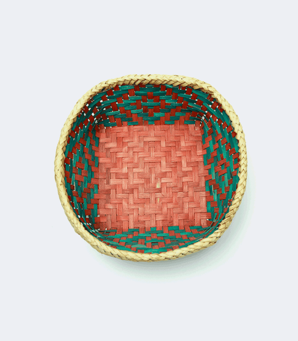 Colorful Bamboo Dalo - Hand weaved basket of Nepal
