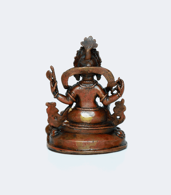 "Ganesh 4"" Tall - Copper Statue Handmade in Nepal"
