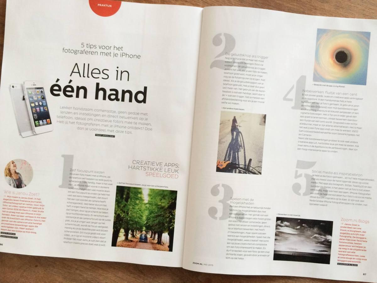 Foonfoto in Zoom.nl Magazine
