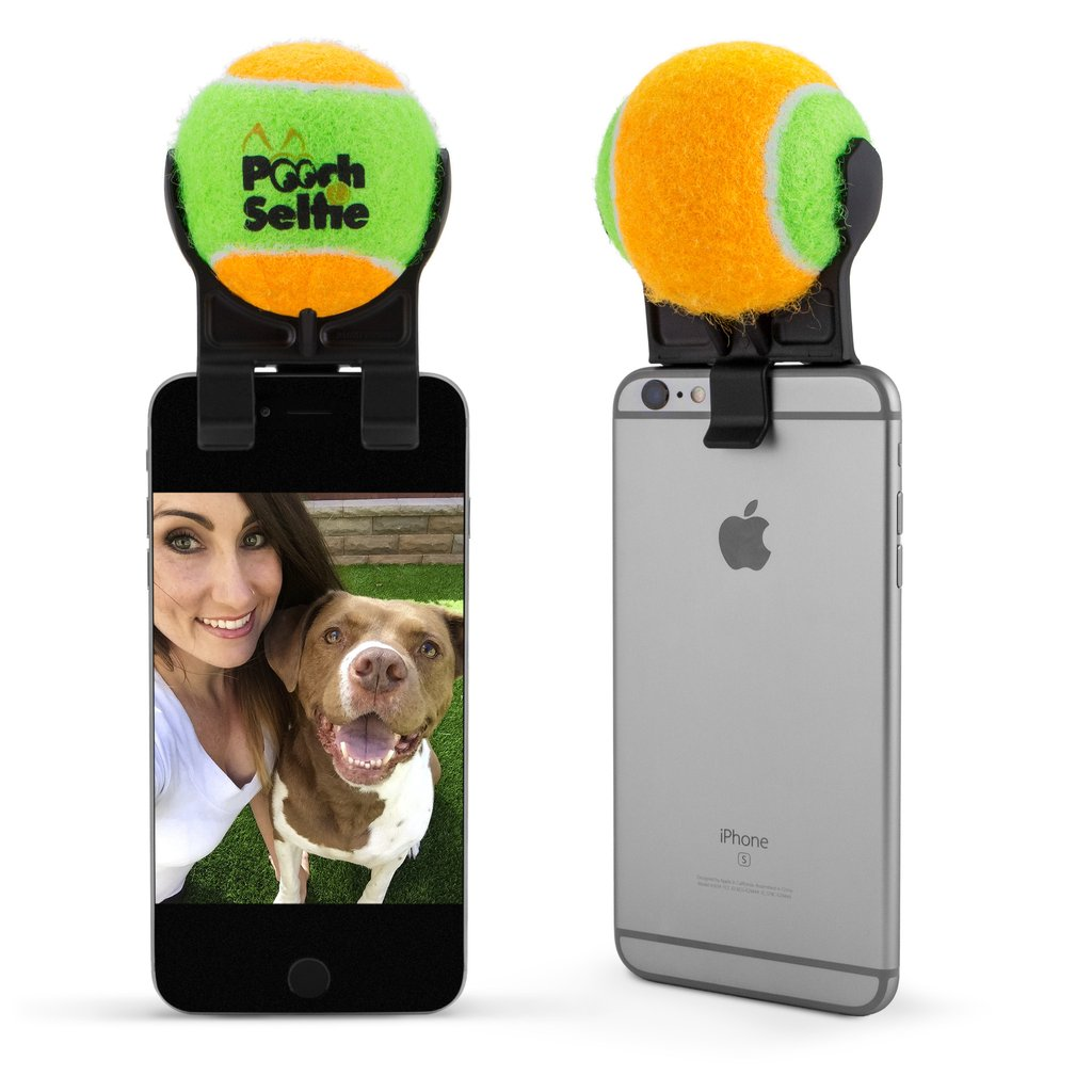 selfie stick bal honden