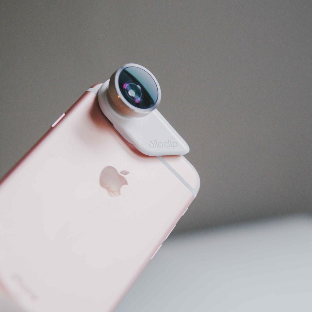 Olloclip op een iPhone 6s