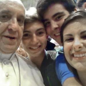 Selfie Paus Fransiscus