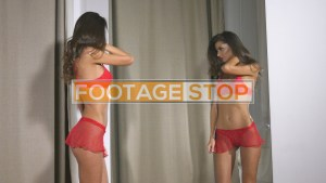 sexy-lingerie-holiday-girl-stock-video