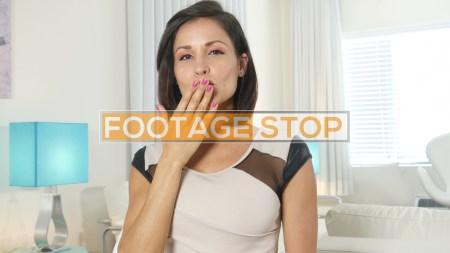 Latina-skype-woman-business-stock-video
