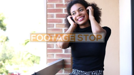 african-american-millennial-woman-stock-video-footage