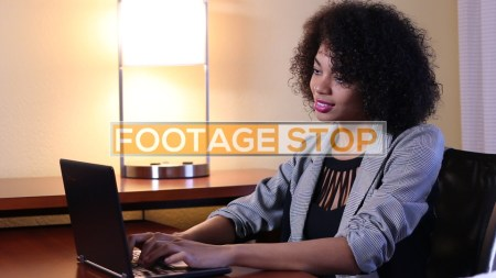 african-american-business-woman-working-stock-video-footage